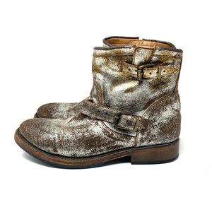Matisse Metallic Distressed Boots